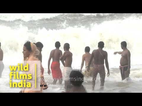 Tourists seeking serenity of Puri Beach