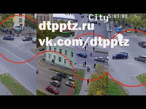 Гонки на Голиковке привели к ДТП с участием пешехода и четырех автомобилей