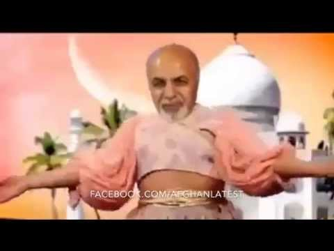 Funny Ashraf ghani loser team belly dancing for Dr. Abdullah