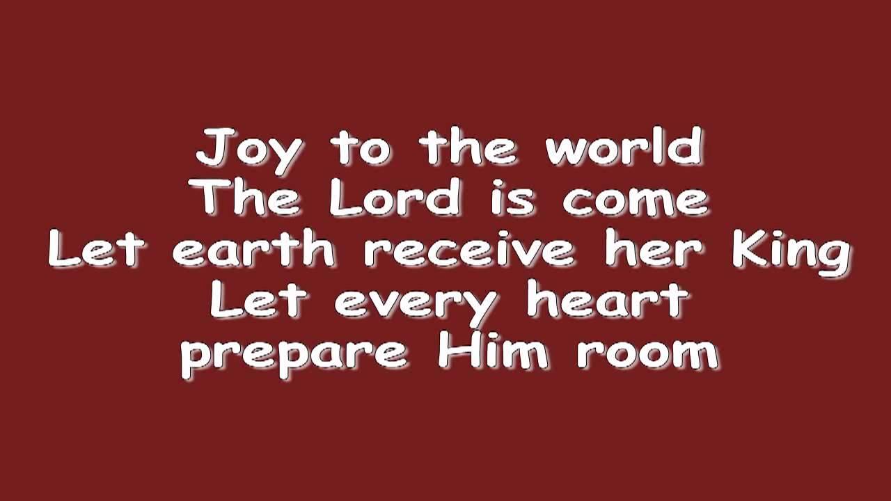 Joy to the World w/ Lyrics - YouTube