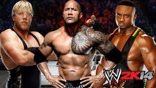WWE 2K14 Online Match The Rock Vs Big E Langston Vs Jack