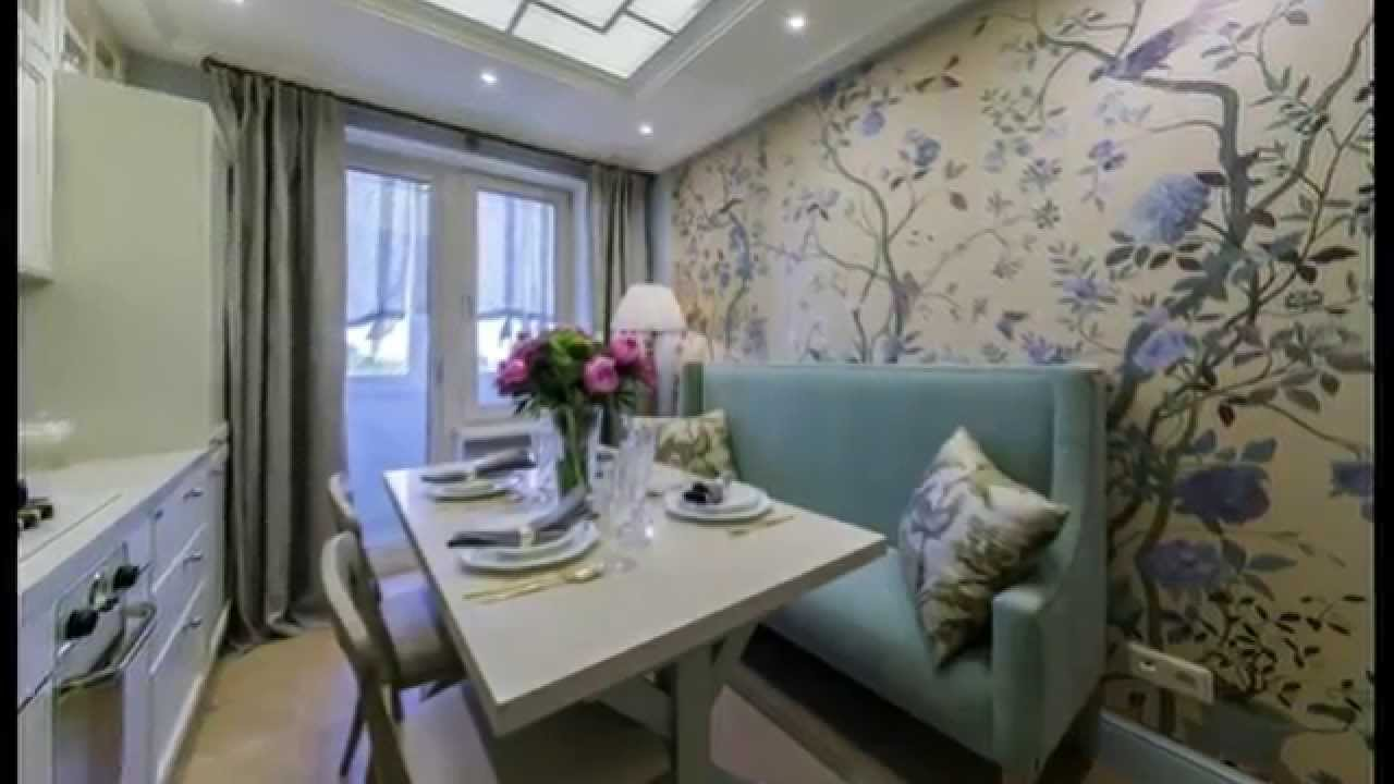 Дизайн 9 метровой кухни с диванчиком.