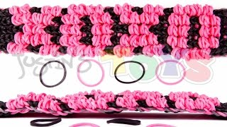 How To Make A Rainbow Loom Puffy Name Bracelet Tutorial