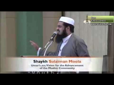 Umar RA Vision For The Advancement Of The Community   Sheikh Sulaiman Moola