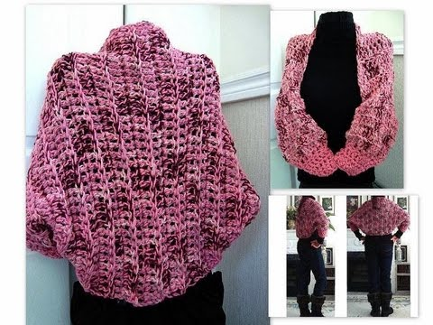 crochet a pink chunky shrug, how to crochet, shrug, shawl, accessories, women, teens, See how easy it is to crochet a chunky style shrug for cooler weather.