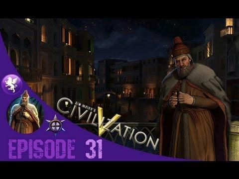 Civilization 5 Brave New World Gameplay: Venice Playthrough Episode 31: WAR!!!
