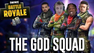 Squads with Ninja, Drake, Travis Scott and JuJu!! - Fortnite Battle Royale Gameplay