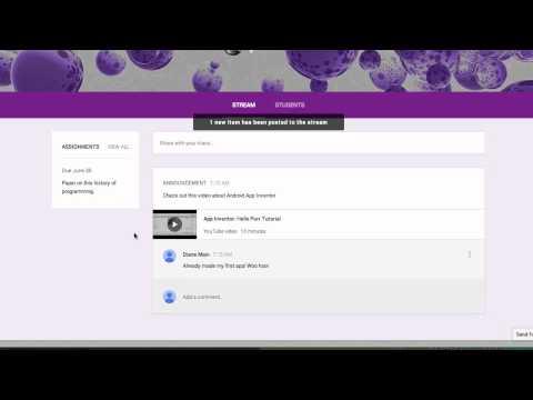 Google Classroom Preview