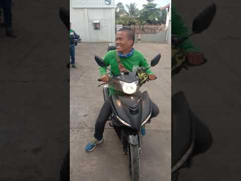 Funny Guy Driving Motorcycle