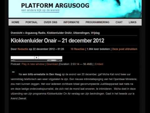 Klokkenluider Onair -- 21 december 2012 - De Arrestatie - The Edit
