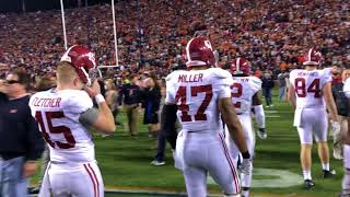 Alabama players exit as Auburn fans rush field after 2017 Iron Bowl