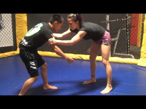 Zingano BJJ - Cat Zingano demonstrates with Sai Michael Xiong