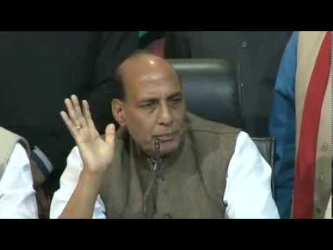 BJP has won 68% seats in four states: Shri Rajnath Singh : 8th December 2013