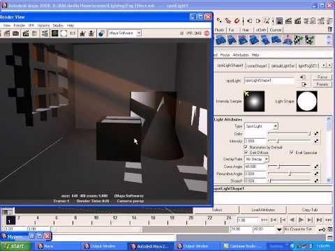 Maya Light Fog Effect Tutorial, Maya 3D Animation Tutorials