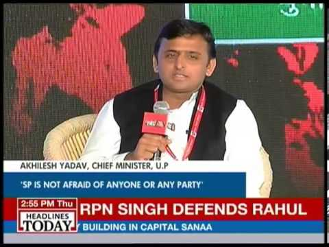 Akhilesh Yadav talks to Aaj Tak