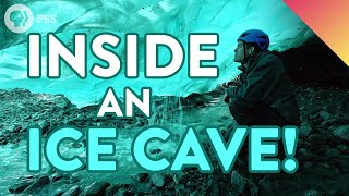 Inside an ICE CAVE! - Nature's Most Beautiful Blue