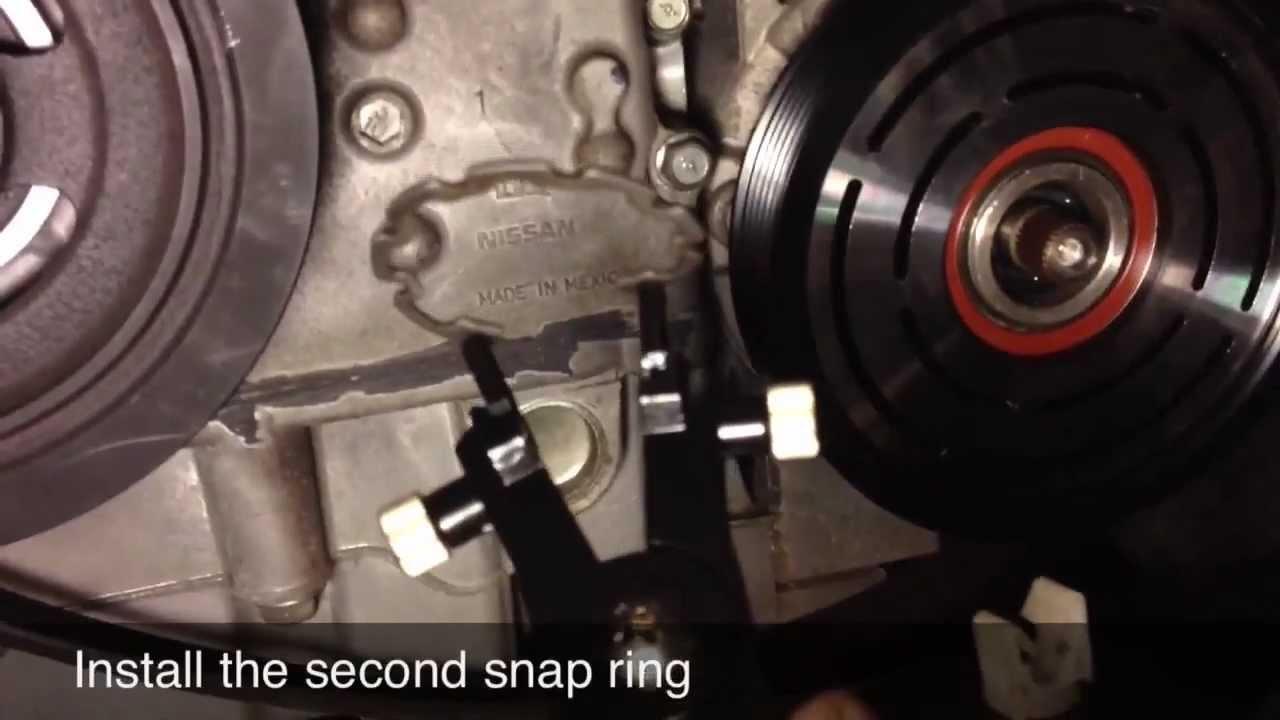AC Compressor Clutch Repair / Replacement - Nissan Altima