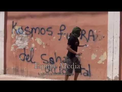 Pintadas denuncian la perforacion de la empresa Kosmos Energy en El Sahara Occidental