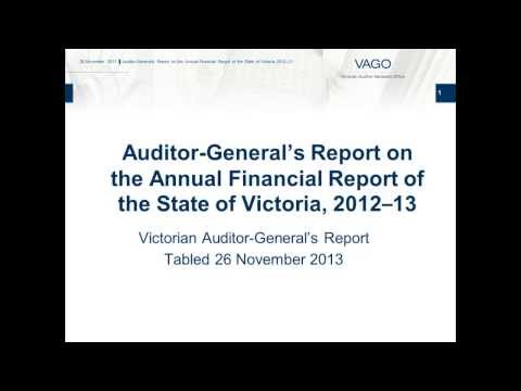 VAGO - Victorian Auditor-General's Report on the Annual Financial Report of the State of Victoria