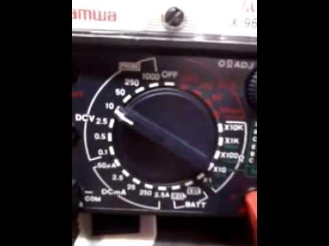 Điện tử căn bản-Phần 1-Cách dùng đồng hồ đo VOM