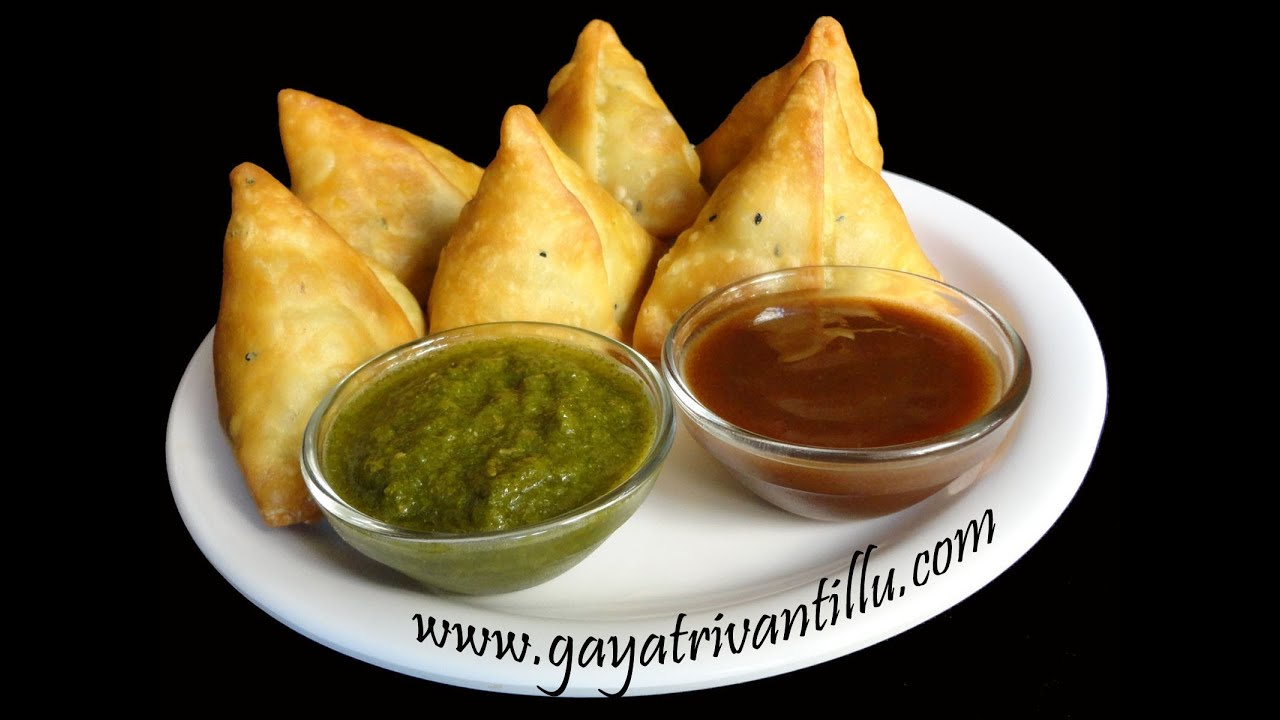 Samosas - Indian Recipes - Andhra Telugu Recipes - YouTube