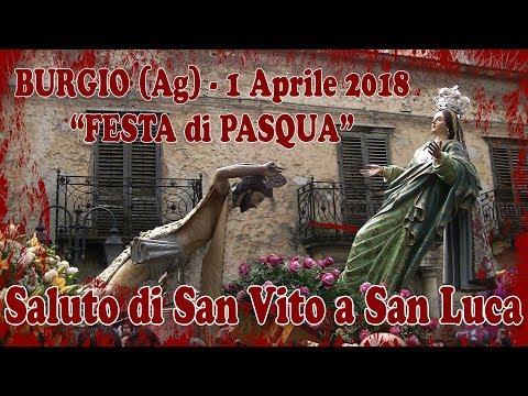BURGIO (Ag) - PASQUA 2018 - LA ROSA Artist Fireworks (Saluto San Luca)