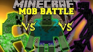 MUTANT ENDERMAN VS MUTANT CREEPER VS MUTANT ZOMBIE