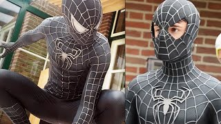 SPIDER-MAN Black Suit Movie Costume Replica!