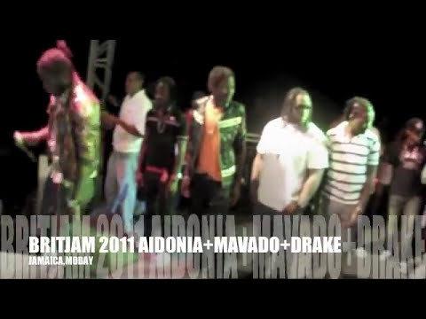 DRAKE IN JAMAICA @ BRITJAM + AIDONIA + MAVADO
