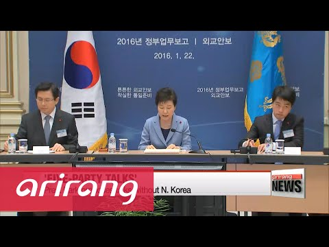 NEWSCENTER 22:00 Pres. Park proposes six-party-talks without N.Korea