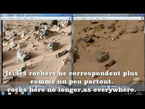Mars Curiosity,Photos Fake,Anomalies 2012
