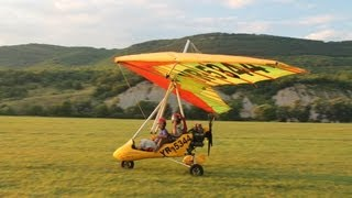 My flight in a powered hang glider