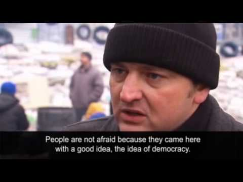 Ukraine: protesters in Kiev