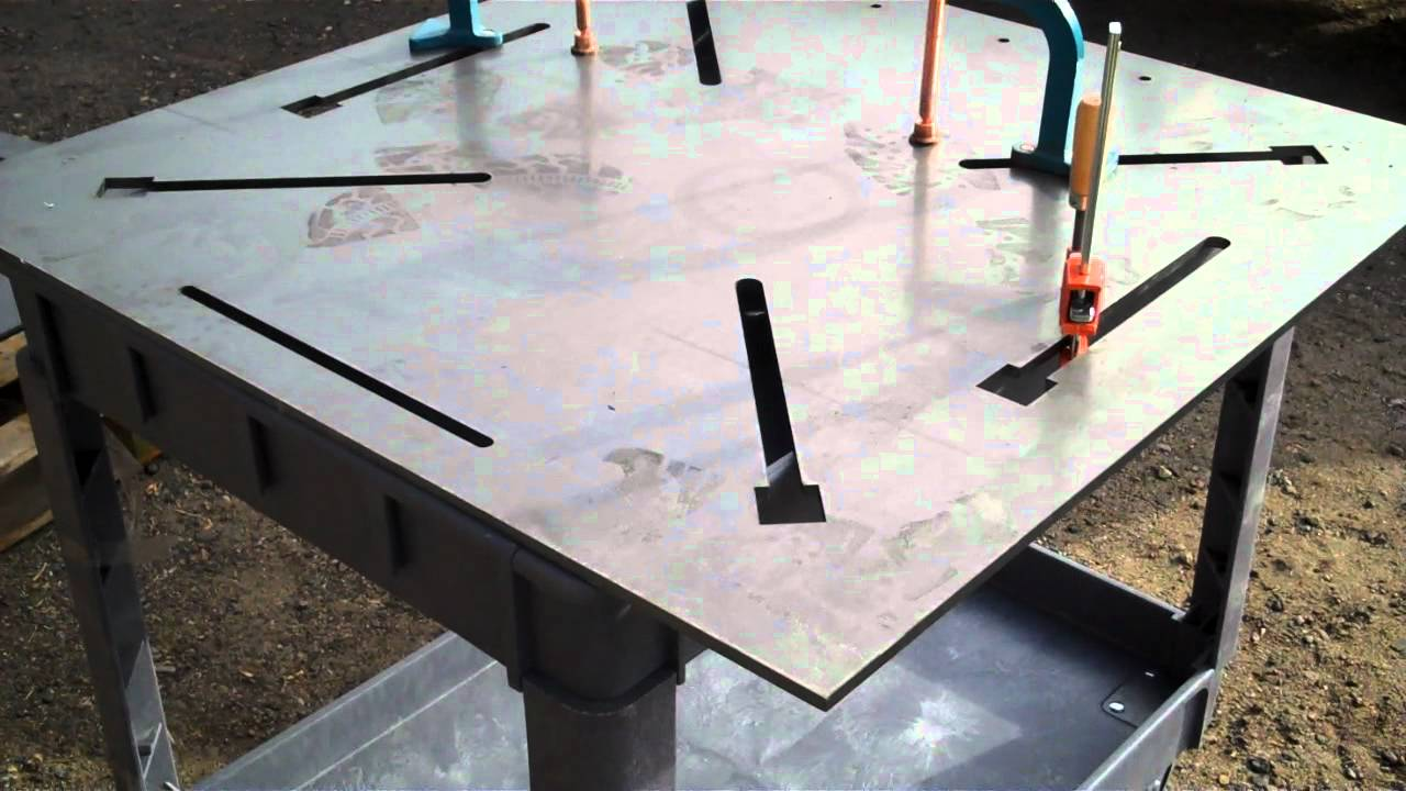 3 8 Quot Thick Welding Table With Laser Cut Clamp Slots Youtube