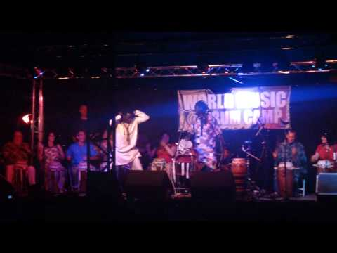 Modou Diouf and friends at Drum Camp 2014