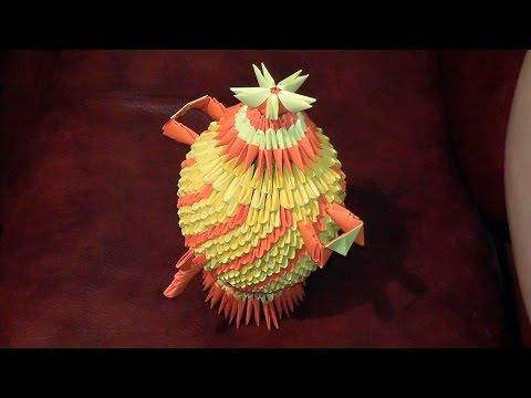 Модульное оригами самовар