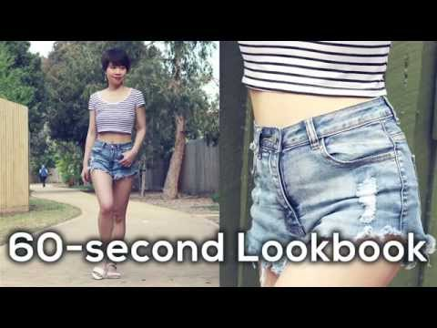 Lookbook: Áo crop sọc vầ quần đùi jeans gocDani