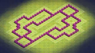 Clash Of Clans TH 6 Hybrid Base (Crystal) + Defense Clip