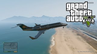 """GTA 5 JET & AIRPLANE Gameplay How To Start """"Under The"""