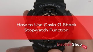 [HOW TO- Set the Stopwatch on Casio G-Shock Watches] Video