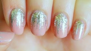 Easy falling glitter nails youtube prinsesfo Image collections
