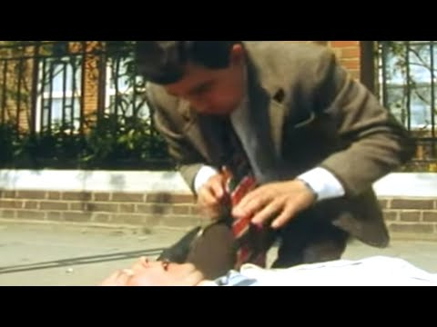 Mr.  Bean - Heart Attack & First Aid, Stay tuned, click here: http://bit.ly/SubscribeToMrBean Mr. Bean tries his hand at first aid. Maybe not the best idea! Welcome to the Official Mr Bean channe...
