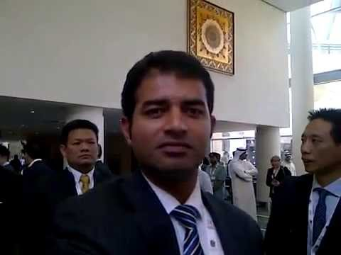 Qamar Abbas At Annual Investment Meeting (2014) DWTC