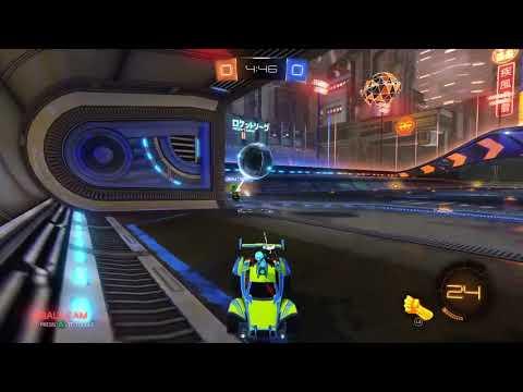 Rocket League showing off his saving skills