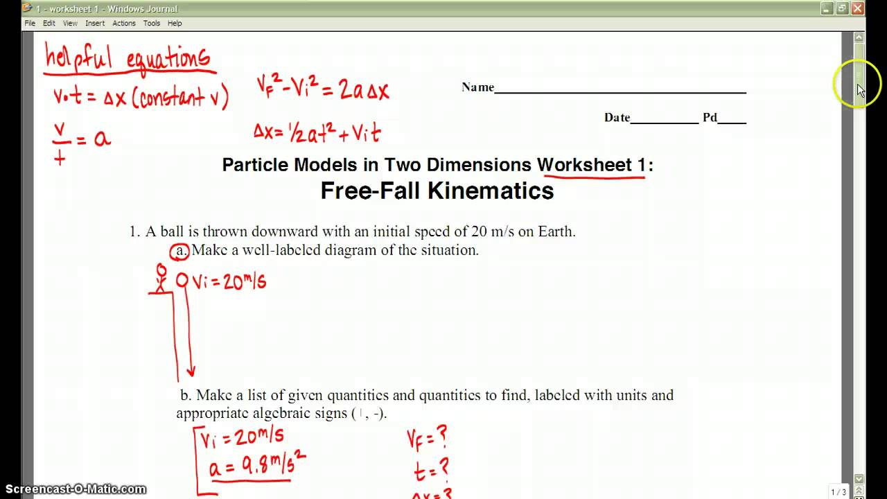 physics worksheet 1 youtube. Black Bedroom Furniture Sets. Home Design Ideas