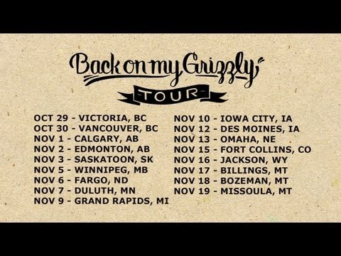 Grieves announces the Back on my Grizzly Tour!