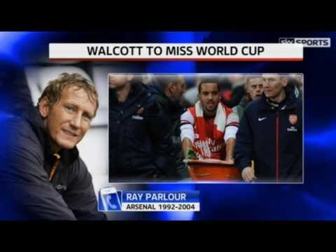 Walcott Injury means he will miss the world cup in Brazil 06/01/2014