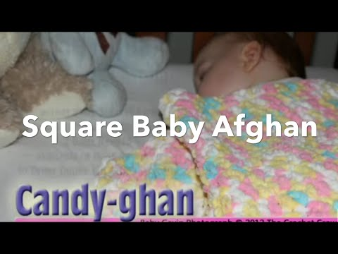 How To Crochet Baby Pitter Patter Afghan