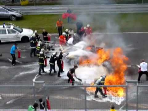 Horrible crash Brno || Lamborghini Gallardo LP 560-4 BURNS