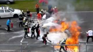 Crash FIA GT Brno Lamborghini Gallardo Super Trofeo LP 560-4 crash